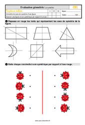 Évaluation, bilan sur la symétrie au Ce1 avec la correction