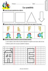 La symétrie – Ce2 – Exercices avec les corrigés