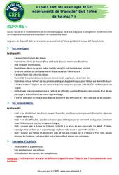 Quels sont les avantages et les inconvénients de travailler sous forme de tutorat? - CRPE2022