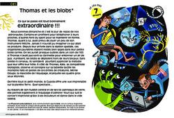 Thomas et les blobs - Ce1 - Lecture - Compréhension fine - Inférences