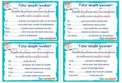 Futur simple (vouloir et pouvoir) - Ce1 - Ce2 - Rituels - Conjugaison