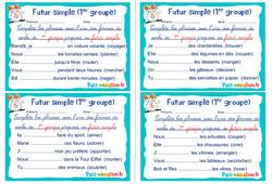 Futur simple (1er groupe) - Ce1 - Ce2 - Rituels - Conjugaison