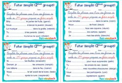 Futur simple (2ème groupe) - Ce1 - Ce2 - Rituels - Conjugaison
