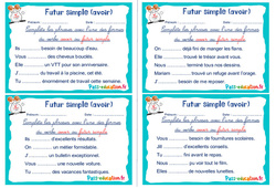 Futur simple (avoir) - Ce1 - Ce2 - Rituels - Conjugaison