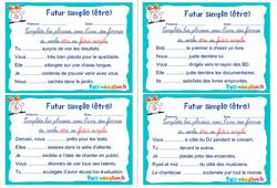 Futur simple (être) - Ce1 - Ce2 - Rituels - Conjugaison
