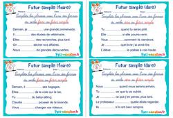 Futur simple (faire et dire) - Ce1 - Ce2 - Rituels - Conjugaison