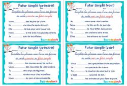 Futur simple (prendre et voir) - Ce1 - Ce2 - Rituels - Conjugaison