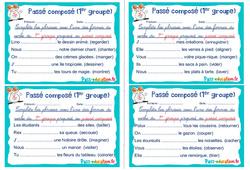 Passé composé (1er groupe) - Ce1 - Ce2 - Rituels - Conjugaison