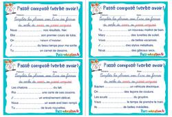 Passé composé (verbe avoir) - Ce1 - Ce2 - Rituels - Conjugaison