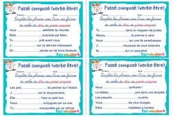 Passé composé (verbe être) - Ce1 - Ce2 - Rituels - Conjugaison
