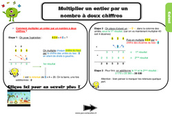 Leçon, trace écrite sur multiplier un entier par un nombre à deux chiffres au Cm2