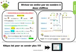 Leçon, trace écrite sur diviser un entier par un nombre à deux chiffres au Cm2