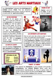 Les arts martiaux - Ce1 - Ce2 - Lecture documentaire