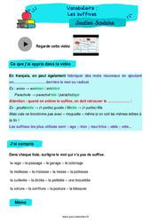 Les suffixes - Cm1 - Soutien scolaire pour les élèves en difficulté.