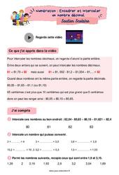 Encadrer et intercaler un nombre décimal - CM2 - Soutien scolaire pour les élèves en difficulté.