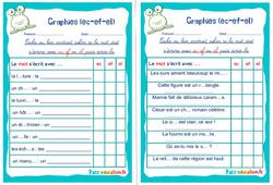 Graphies (ec-ef-el) - Ce1 - Ce2 - Rituels - Phonologie