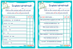Graphies (ail-eil-euil) - Ce1 - Ce2 - Rituels - Phonologie
