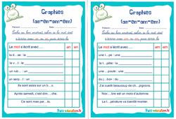 Graphies (an-en-am-em) - Ce1 - Ce2 - Rituels - Phonologie