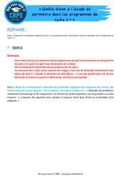 Quelle place a l'étude du périmètre dans les programmes de cycle 2? - CRPE2022
