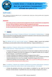Quelle place a l'étude du périmètre dans les programmes d'enseignement officiels du cycle 3? - CRPE2022