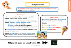 Leçon, trace écrite sur les synonymes au Cm2