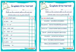 Graphies (é-er-ez-ed) - Ce1 - Ce2 - Rituels - Phonologie