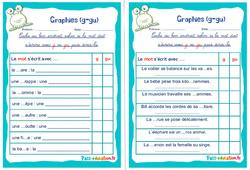 Graphies (g-gu) - Ce1 - Ce2 - Rituels - Phonologie
