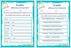 Graphies (elle-enne-erre-esse-ette) - Ce1 - Ce2 - Rituels - Phonologie