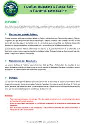 Quelles obligations a l'école face à l'autorité parentale? - CRPE2022