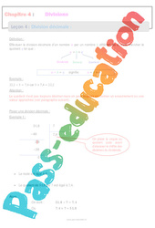 Division décimale - 6ème - Séquence complète - Divisions