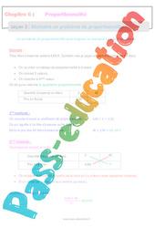 Résoudre un problème de proportionnalité - 6ème - Séquence complète