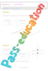 Les propriétés sur les droites - 6ème - Séquence complète