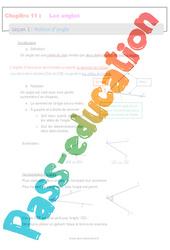 Notion d'angle - 6ème - Séquence complète