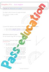 Mesurer un angle - 6ème - Séquence complète