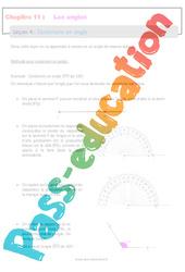 Construire un angle - 6ème - Séquence complète