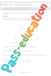 Les hauteurs d'un triangle - 6ème - Séquence complète sur les figures usuelles
