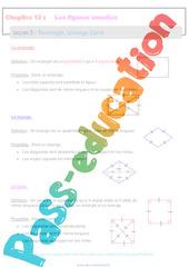 Rectangle Losange Carré - 6ème - Séquence complète sur les figures usuelles