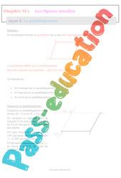Le parallélogramme - 6ème - Séquence complète sur les figures usuelles