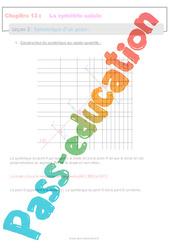 Symétrique d'un point - 6ème - Séquence complète sur la symétrie axiale