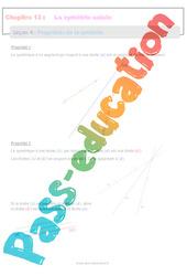 Propriétés de la symétrie - 6ème - Séquence complète sur La symétrie axiale