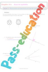 Reconnaitre et construire un axe de symétrie - 6ème - Séquence complète sur les axes de symétrie d'une figure