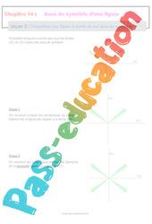 Compléter une figure à partir de ses axes de symétrie - 6ème - Séquence complète