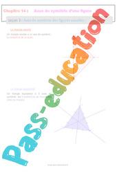 Axes de symétrie des figures usuelles - 6ème - Séquence complète