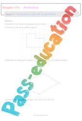 Comparer et calculer un périmètre - 6ème - Séquence complète