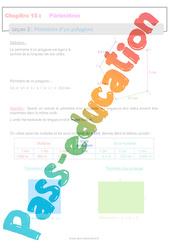 Périmètre d'un polygone - 6ème - Séquence complète