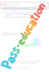 Aires des figures complexes - 6ème - Séquence complète