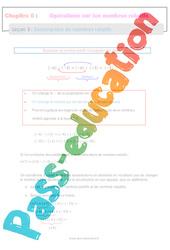 Soustraction de nombres relatifs – 5ème – Séquence complète
