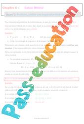 Produire, utiliser une expression littérale - 5ème - Calcul littéral - Séquence complète