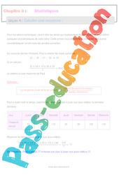 Calculer une moyenne – 5ème – Statistiques – Séquence complète