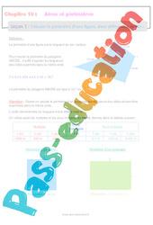 Calculer le périmètre d'une figure, dans différentes unités - 5ème - Séquence complète